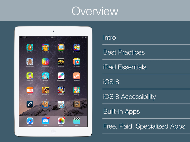 iPads for Children with Special Needs - Slideshow