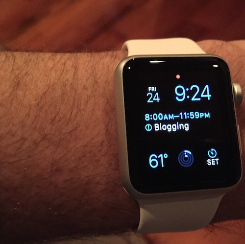First day with Apple Watch