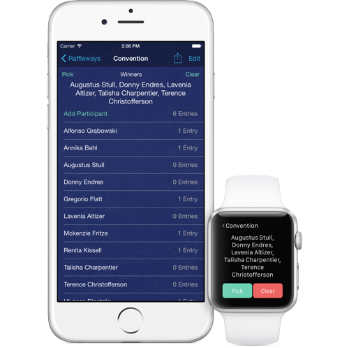 Introducing Raffleway for iPhone and iPad with Apple Watch support