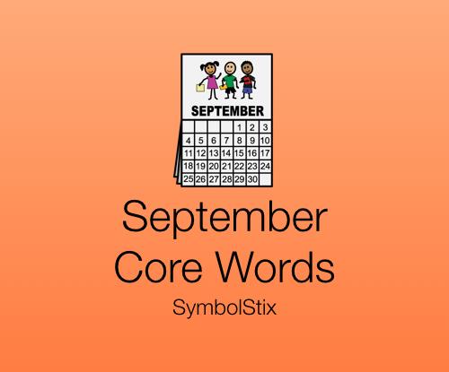 September Core Words with SymbolStix
