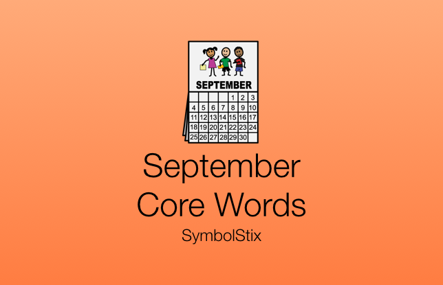 September Core Words with SymbolStix