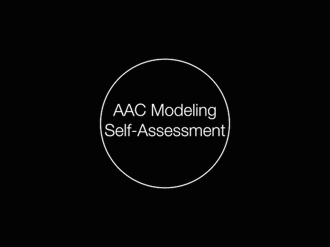 AAC Modeling Self-Assessment